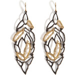 Alexis Bittar Phoenix Crystal Embellished Lacy Leaf Earrings