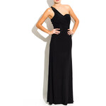 Luccama Spol.dlouhé šaty-jedno rameno s korálky-černá Uni (S-L)