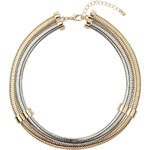 Topshop Gold and Silver Torque Necklace