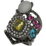 Topshop Mix Jewelled layer Look Ring