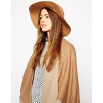 ASOS Felt Floppy Hat With Rope Band Detail - Brown