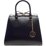 Glamorous by Glam Dámská kožená kabelka kufřík černá