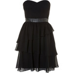 Tally Weijl Black Detailed Skater Dress