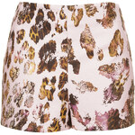 Topshop Leopard Jacquard Shorts