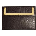 ASOS Croc Clutch Bag With Metal Frame