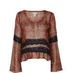 Topshop Lace Trim Blouse by Band of Gypises