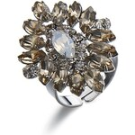 Luxusní třpytivý prsten, INTRIGUE stříbrná