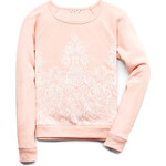 FOREVER21 girls Fancy Lace Print Sweatshirt (Kids)