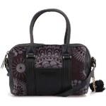 Černo-šedá kabelka do ruky s přívěskem Desigual Fur