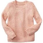 Gap Metallic Open Stitch Sweater - Murmur pink