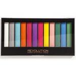 Makeup Revolution Odvážnější paletka očních stínů Matte Brights
