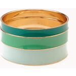 FOREVER21 Color Cascade Lacquered Bangle Set
