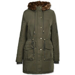 Tally Weijl Green Parka with Faux Fur