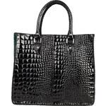 Luxusní krokodýlí kabelka Made in Italia / Viareggio - černá - skladem univerzální