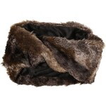 s.Oliver Mock wrap-over fake fur snood