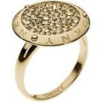 DKNY Elegantní zlatý prsten NJ2040040 53 mm