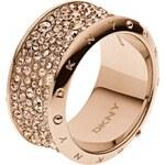 DKNY Bronzový prsten s krystaly NJ1962040 56 mm