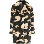 Topshop Faux Fur Tufty Boyfriend Coat