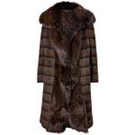 Salvatore Ferragamo Wool-Mohair-Alpaca Coat with Fox Fur Front