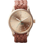 Topshop **Triwa Rose Lansen Braided Strap Watch