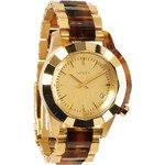 Topshop **Nixon Monarch Gold and Tortoiseshell Watch