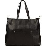 Praktická kožená kabelka Made in Italia / San Mauro - černá univerzální