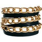 Gorjana Graham Leather and Chain Triple Wrap Bracelet