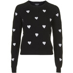 Topshop Heart Knit Jumper