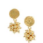 Kasturjewels 22kt Gold Plated Ball Drop Earrings