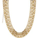Kasturjewels Three Line Metal Chain Necklace