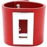 RITORE RENO - kožený náramek v červené barvě