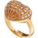 Pilgrim Gold Heart Adjustable Ring