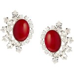 Krystal Large Red Swarovski Crystal Stud Earrings