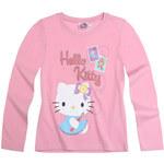 Dívčí tričko Hello Kitty růžové vel.128