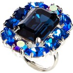 Krystal Montana Blue Mix Swarovski Crystal Ring