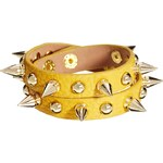 Nali Double Wrap Studded Faux Leather Bracelet