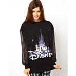 ASOS Sweatshirt with Mesh Sleeves and Disney Castle