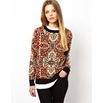 Pull&Bear Printed Knitted Jumper