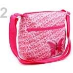 Stoklasa Taška dětská textilní 19x19cm s aplikací přes rameno (1 ks) - 2 růžová střední