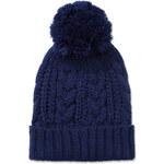 Tally Weijl Blue Knitted Beanie Hat with Pom Pom