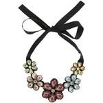 Topshop Large Rhinestone Flower Collar