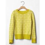 Gap Fair Isle Crewneck Sweater - Green grape