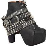 Jeffrey Campbell - Kotníkové boty Lita Strap - černá, 38