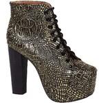 Jeffrey Campbell - Kotníkové boty Lita Ex01 - zlatá, 37