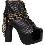 Jeffrey Campbell - Kotníkové boty Coco Lita01 - černá, 36