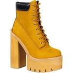 Jeffrey Campbell - Kotníkové boty Hbic01 - zlatohnědá, 38
