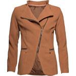 Dámský krátký flaušový kabátek - camel - SGlamorous by Glam