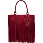 Dámská kožená kabelka s třásněmi - červenáGlamorous by Glam