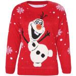 Červený sveter Frozen L/XL