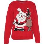 Červený sveter Santa S/M